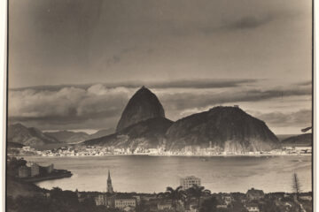 A black and white photograph of Rio de Janeiro, Brazil. By Margaret Bourke-White, from the New York Public Library Digital Collections